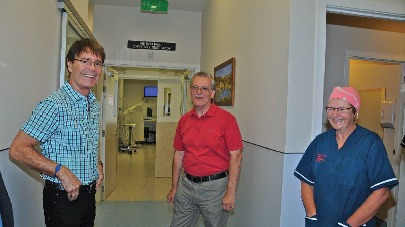 Sir Cliff Richard visits the Charity Hospital